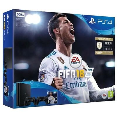 Sony PS4 500GB FIFA 18  Dualshock black
