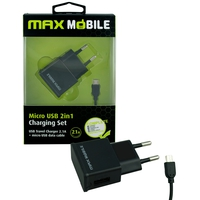 MAX MOBILE USB+ MICRO DATA KABEL 2.4A