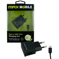 MAX MOBILE USB+ TYPE C KABEL 2.4A