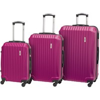 ENOVA ABS SEVILLA Set kofera 55/65/75cm pink